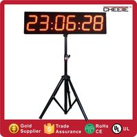 #CT37 Giant 8 Inch Digit LED Race Clock with Tripod Stand Double Sided Running Race Clock Timers