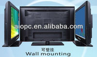 37inch vertical wall mount lcd tv with VGA port built in PC 3G WIFI camera