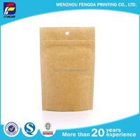 New Type Widely Use Kraft Paper Bags Lined Aluminum Foil