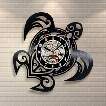 Wall Mounted Vinyl Record Clock Modern Themes Home Decoration