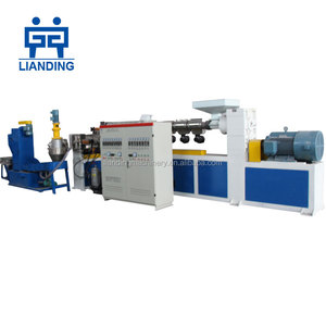 waste plastic recycling granules making machine/pelletizing line for pp pe or pet flakes