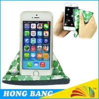 High Quality Colorful bean bag Microfiber Mobile Phone Stand