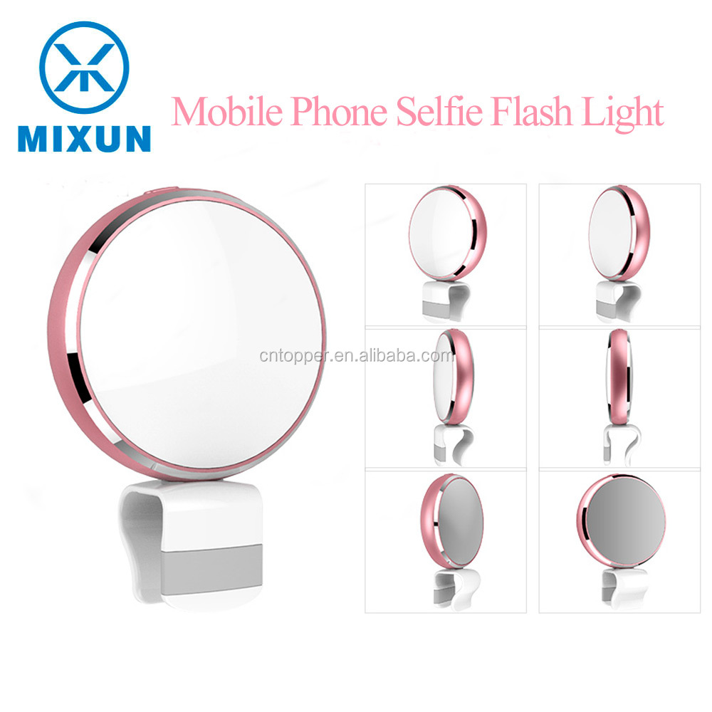 Photographic Photo Studio Accessories Mini LED Flash Light Up Selfie Luminous Lamp Photography Ring for Mobile Phone