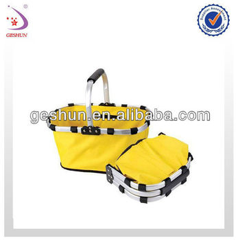 new aluminum cooler basket bag with single pipe handle