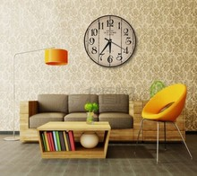 Vintage brass flip analog clock