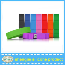 2015 silicone usb bracelet with 32GB memory