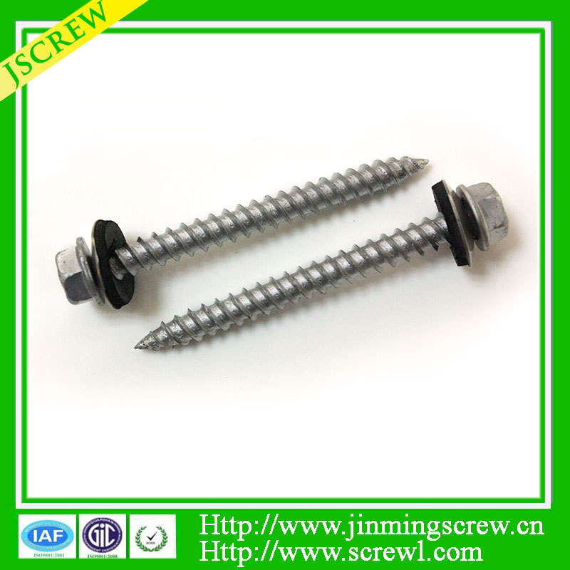 Dacromet coated flange socket head cap screw with rubber washer