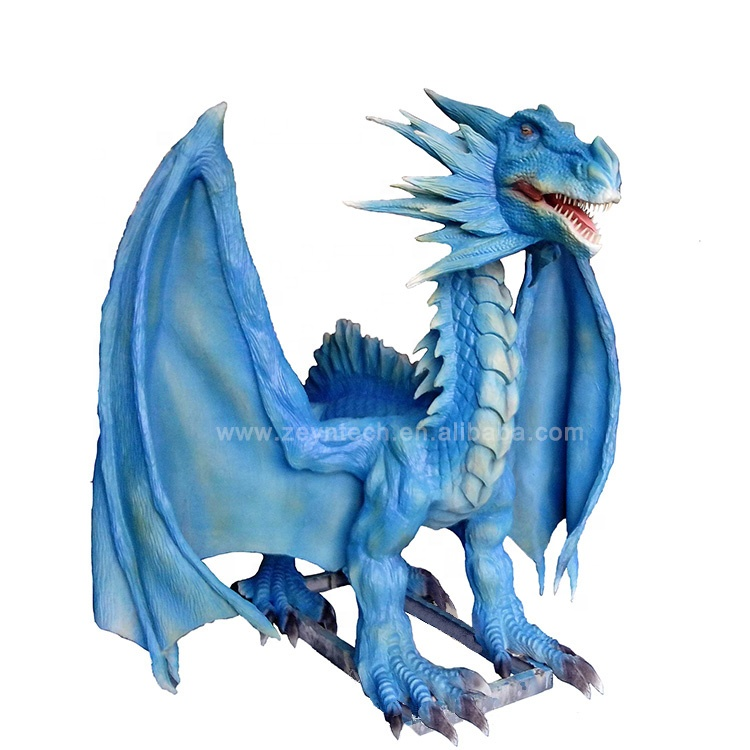 Hot selling adult realistic dragon animatronic blue dragon for amusement park