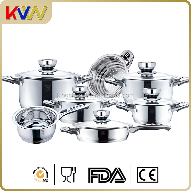 High quality stainless steel large induction cooking STOCK POT set
