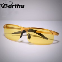 Bertha Night Vision Sporty Aluminum Magnesium Alloy Polarized Sunglasses Y3219 Big Size