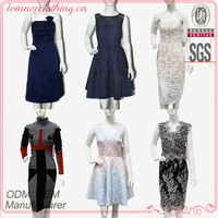 China clothes factory dress manufacturer provide OEM ODM high fashion layered evening woman dress customized dress
