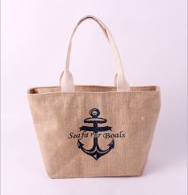 Custom printed Jute Bag wholesale for shopping