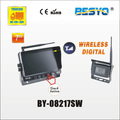 Wireless auto reversing camera system, 7 inch wireless camera with wireless monitor system BY-08217SW