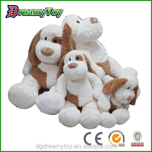 15mm long fur white puppy stuffed soft toy rabbit