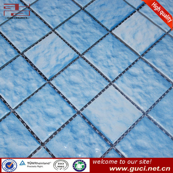 Pool floor tile glazed ceramic mosaic tile