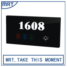 House Number Electronic Doorplate with Touch control electric hotel door bell with DND M80-172