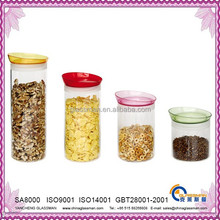 colored plastic seal of glass canisters