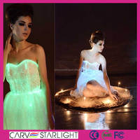 New fit slim girls international women led light up evening dresses