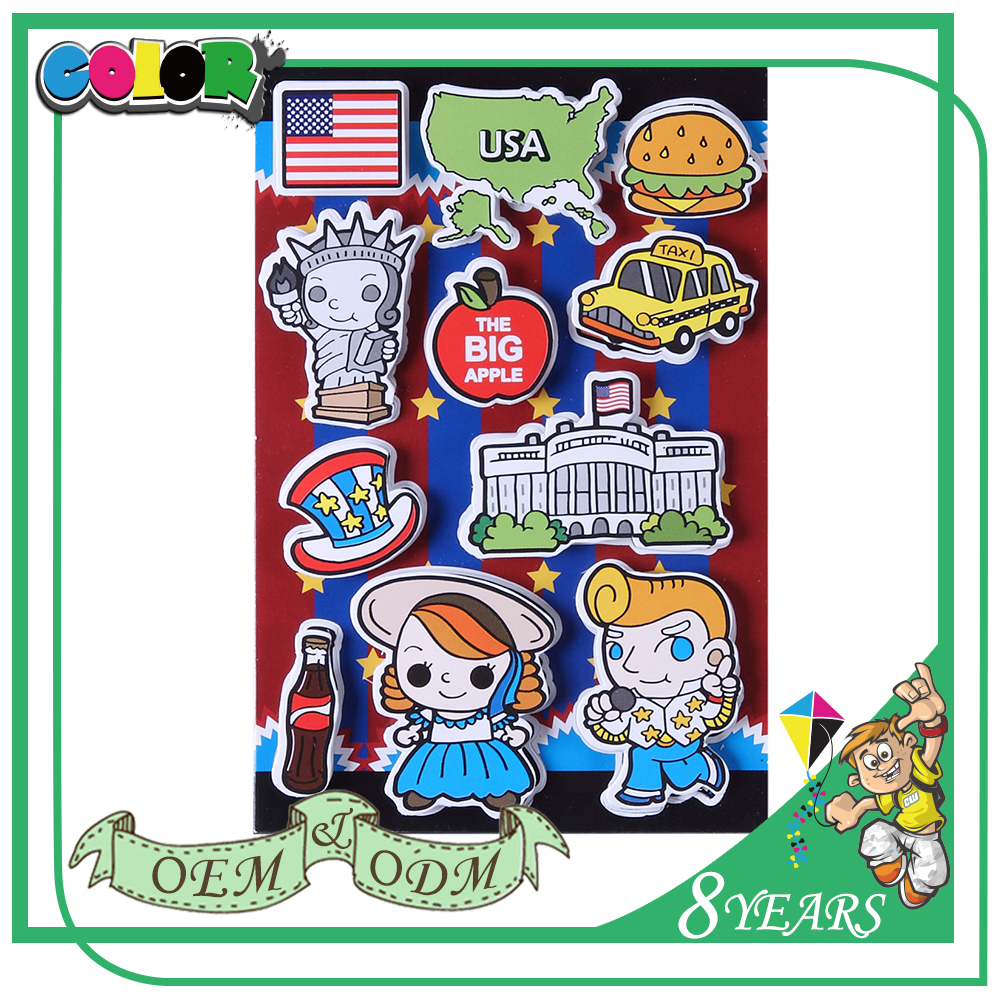 Best Selling Excellent Quality Special Design Beautiful Cartoon Adhesive Sticker Pvc For Kids