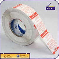 bar code sticker label rolls