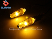 ZJMOTO Streetfighter Amber Turn Signal Indicator Blinkers Motorcycle LED Turn Light Winker lamp Fit to YAMAHA YZF R1 R6 FZ1 FZ6