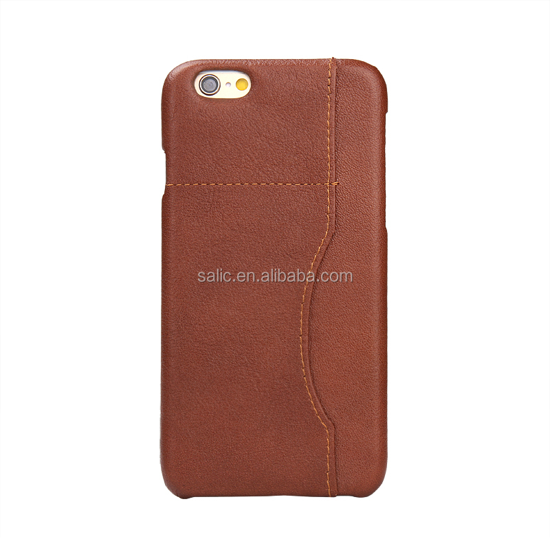 2016 New high quality genuine leather cell phone case for iphone 7 case