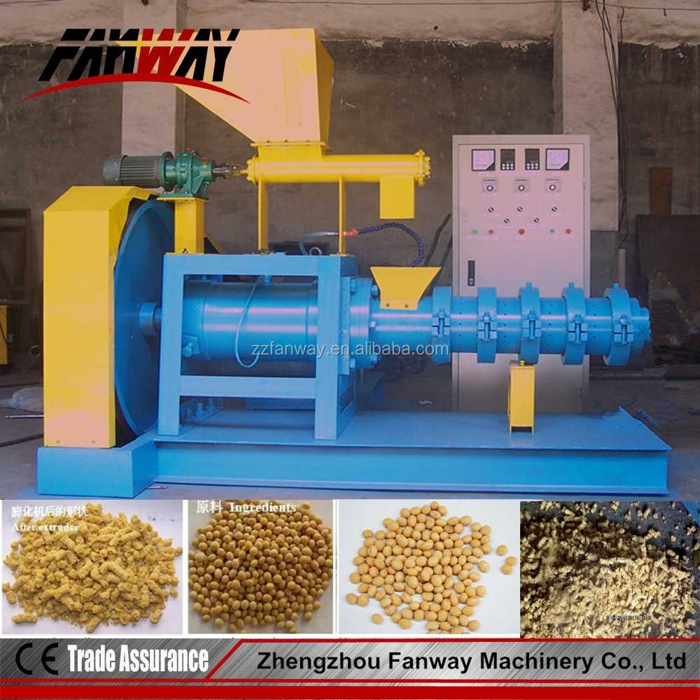 High working efficiency 1-1.5t/h grain extruder equipment/soybean/corn extruder machine