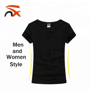 Wholesale Custom High Quality V-neck T-shirt With Print Logo
