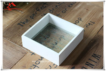 New design Zakka Wooden Tray With Glass Bottom