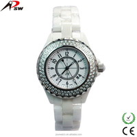 2015 white ceramic band sapphire glass watches lady gift watch stainless steel back watch