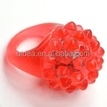 Flashing LED Bumpy Rings Blinking Soft Jelly Glow /LED Soft Rubber Ring for Party