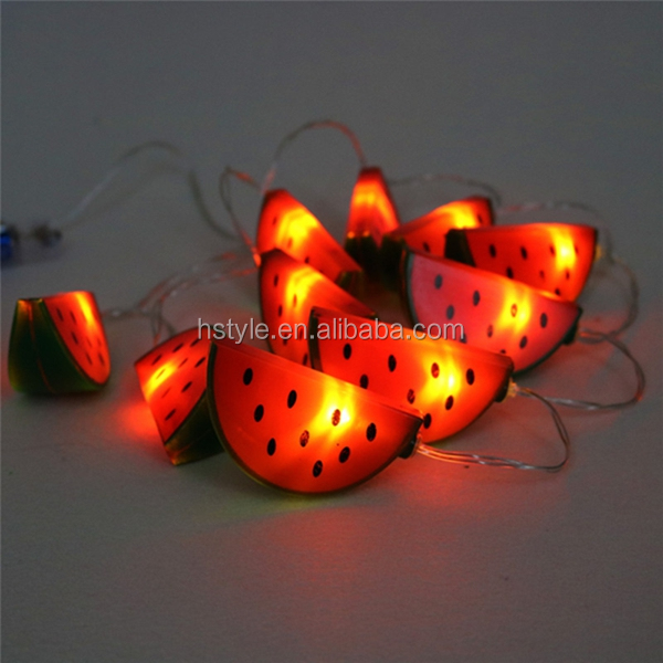 LED Watermelon Light String Decoration,DIY Creative Romantic Background Decorative,Holiday Festival Christmas Light Room HNL381