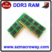 lowest price Sodimm Ram Ddr3 Pc10600 1333 4gb