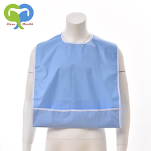 Waterproof apron with pocket Washable pvc adult bib for incontinence