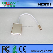 USB C to VGA cable adapter with aluminium alloy
