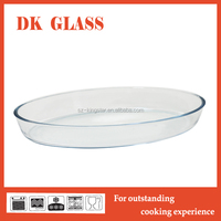 Microwave Safe High Borosilicate Glass Bakeware/Square Cake Pan/Clear Glass Baking Tray