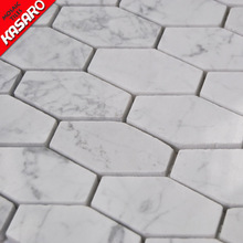 KSL-MS16216 china supplier kitchen cabinet hexagon white marble floor tile