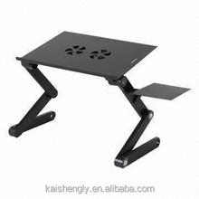 Mini laptop desk lap tray with cushion on bed