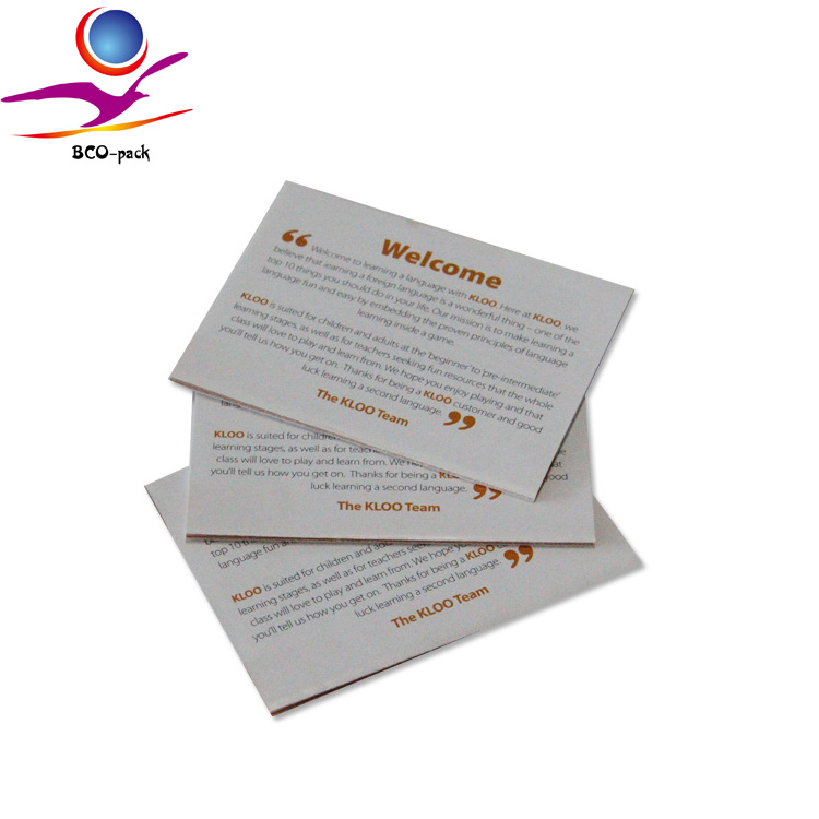 Folded instruction manual booklet printing flyer