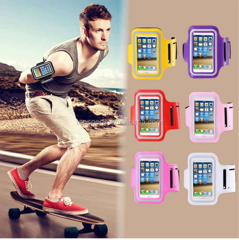 Adjustable PVC leather sport armband phone case for iphone 6s plus