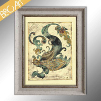 Wholesale classical wonderful phoenix chinese still life painting