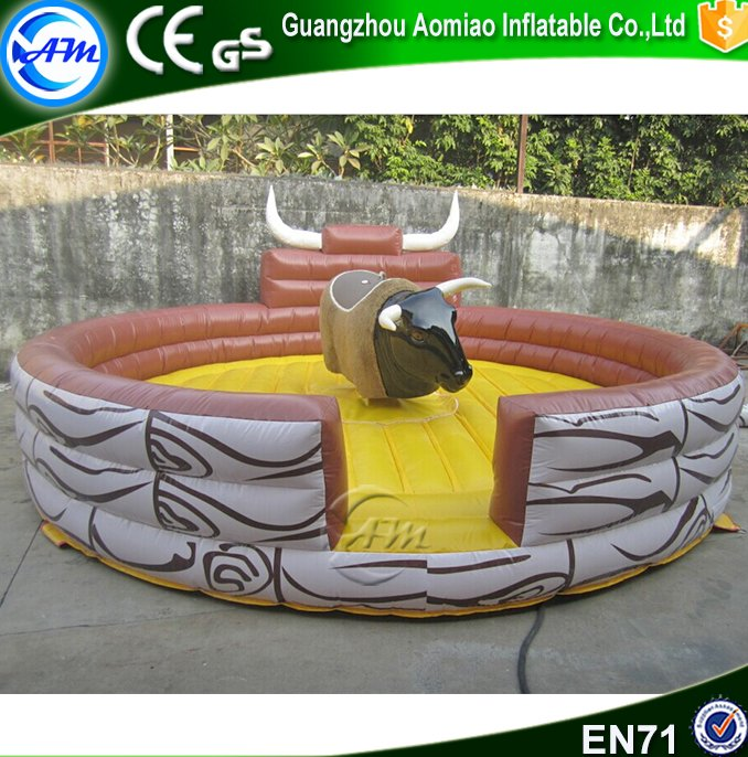 Low price amazing inflatable mechanical bull for sale