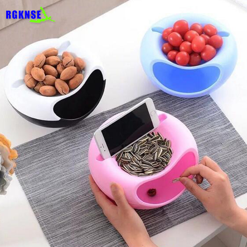 RGKNSE Useful household item lazy compote mobile holder with food box for watching TVs lazy Containers Organization