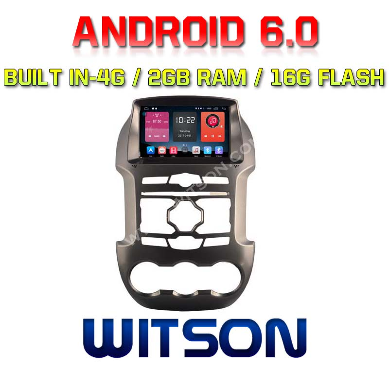 WITSON QUAD-Core Android 6.0 CAR DVD PLAYER GPS For FORD RANGER 2012-2014 2G ROM 16GB ROM BUILT IN 4G ADAS FUNCTION SUPPORT