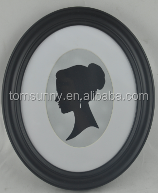 oval cardboard photo frame