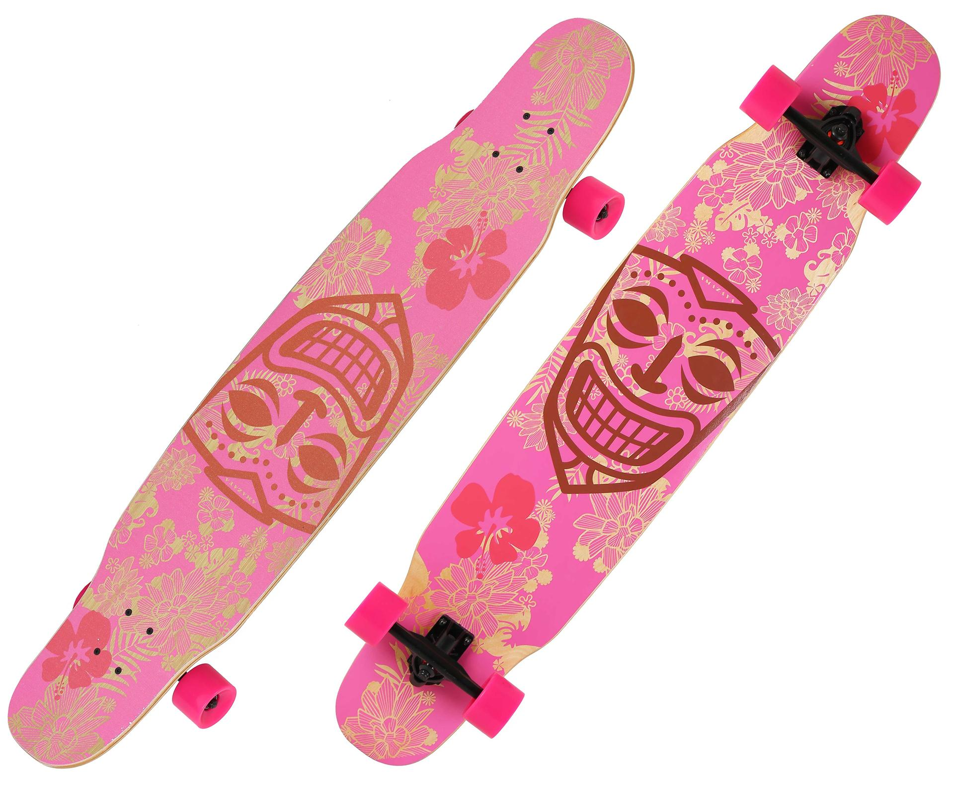 Girls' Dance longboard 46inch maple longboard colorful griptape graphics OEM dancing longboard