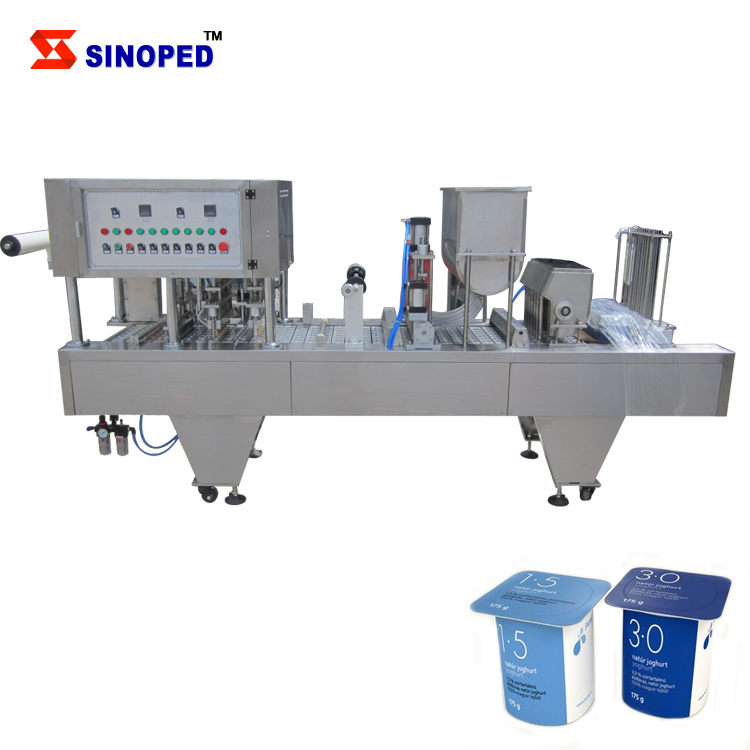 Plastic cup filling sealing machine for Jelly/Juice/Milk/Melting cheese