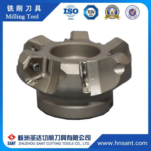 High Precision 10 Flutes Helical Structure Sharp Edge Indexable Milling Cutter