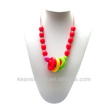 Bead Cluster Necklace 100% Food Grade Silicone/Baby Soft Liquid Silicone Teethers