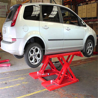 Platform moving small Scissor Design and CE certification motorcycle lift car lift